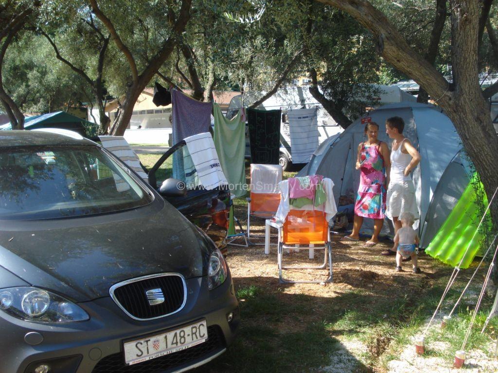 Nybegyndere på Camping Oliva i Rabac