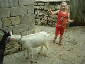 Ida med en ged