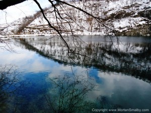 Nationalpark Plitvice søerne vinter