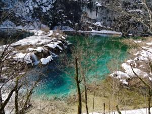 Plitvice parken vinter