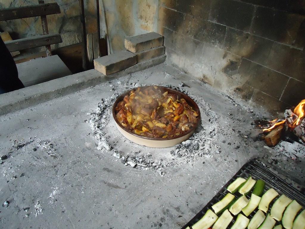røget skinke på grill