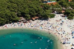 Luftbillede strand Makarska