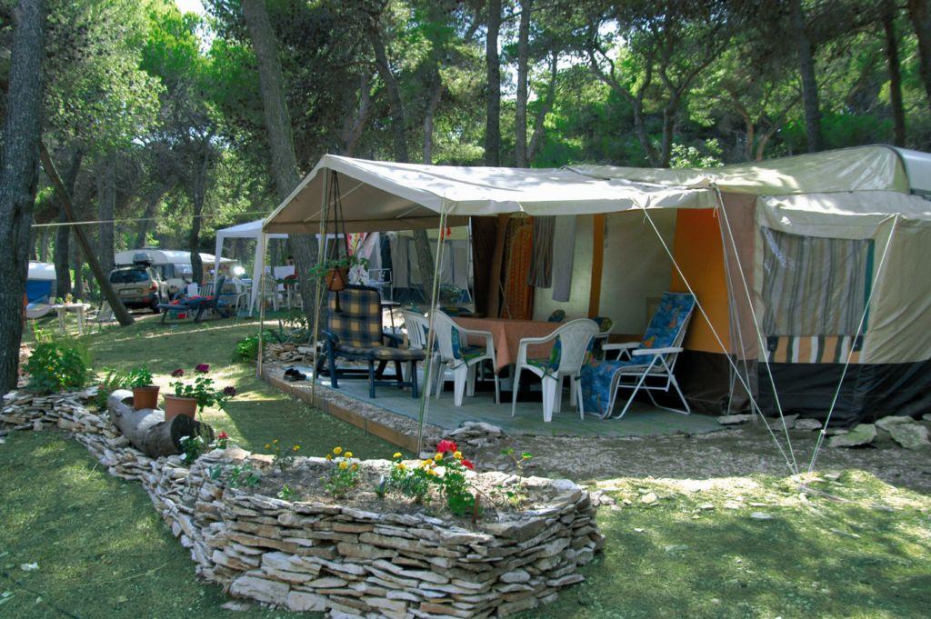 leje af telt i Kroatien